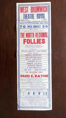 Poster Variety West Bromwich Fred E Rayne Horace Mashford Elsie Prince Jim Fitz