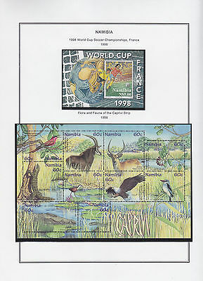 Namibia Collection On Pages Mnh - Caprivi Miniature Sheet 1998 (22)