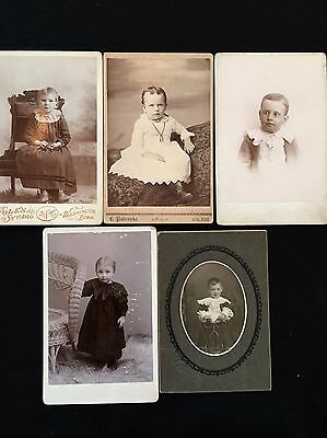 Vintage LOT Cabinet Card Photographs YOUNG CHILDREN BOYS GIRLS 1800s