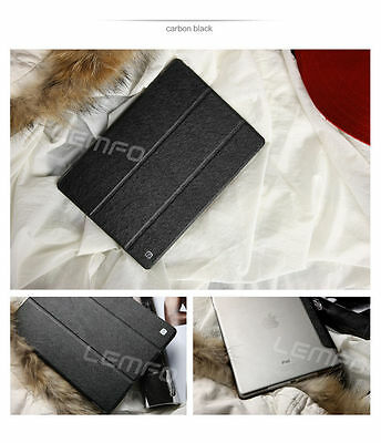 Magnetic Slim Sleep Wake Stand Smart Case Cover For iPad6/ Air 2 Black US Stock