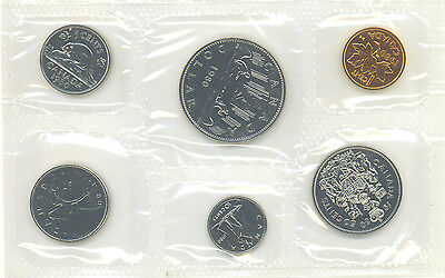 Canada 1980 Proof Like PL Coin Set Uncirculated COA Envelope