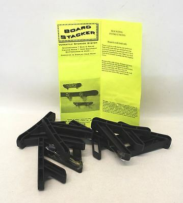 BNIB Black Ski Snowboard Skateboard Plastic Wall Mount Rack Storage Elements