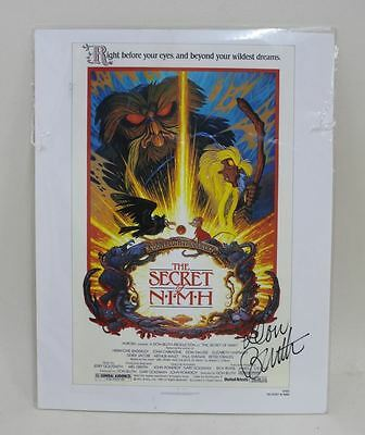 THE SECRET OF NIMH Don Bluth Animator Signed Autographed Mini Film Poster