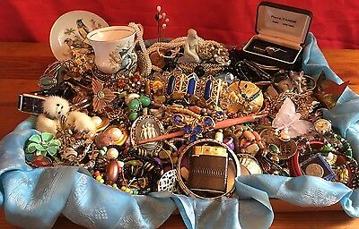 Costume Jewelry Lot 10 LBS Vintage New Repair Wear Signed Gold Silver #8