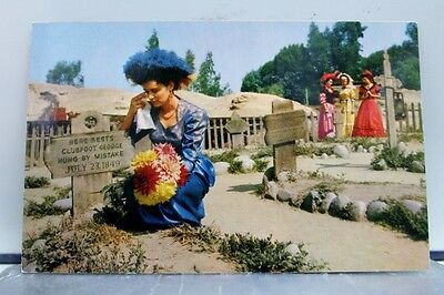 California CA Ghost Town Knott's Berry Farm Boot Hill Mourners Postcard Old View