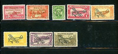 Philippines Scott # C52, C53, C46 - C51 - MH - small paper on back of some stamp