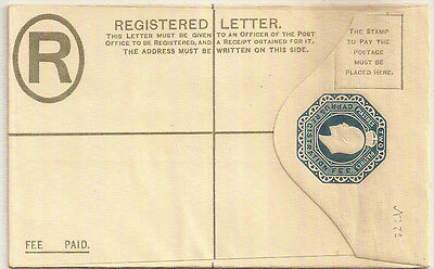 Cyprus 1902 Kevii Two Piastres Blue Registered Envelope H&g 8