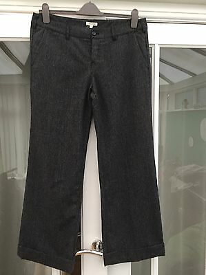 White Stuff Trousers Wide Leg Black Pin- Stripe Size 16 Excellent Condition