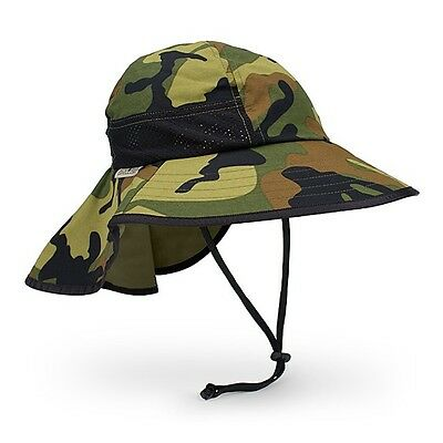 SunDay Afternoons PLAY HAT KID Sun Protection Hat Green Camo 2-5 years Med NEW