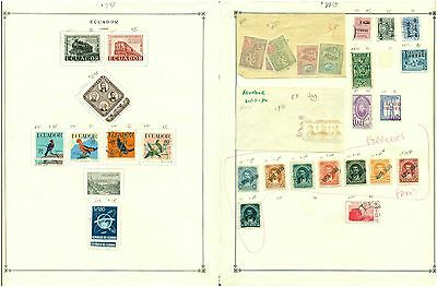 Ecuador Album Page Lot #15 - 11958 + REFERENCE  - SEE SCAN $$$