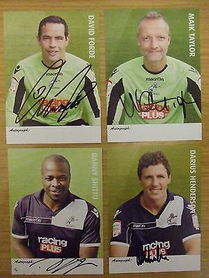 x4 MILLWALL FC: AUTOGRAPHED PLAYER CARDS: 2012-13 SEASON: SUPERB: LOOK !!!