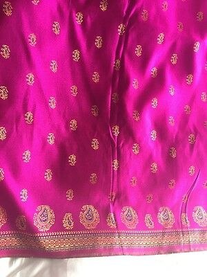 Magenta/Hot Pink Art Silk Saree