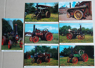 Traction Engine Postcards x 7