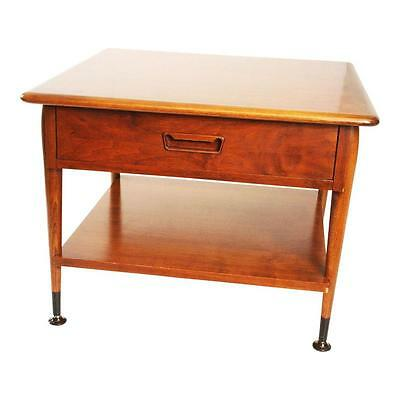 Danish Modern LANE ACCLAIM ACCENT TABLE with Drawer mid century vintage end side