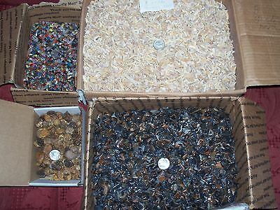 10 large ammonites fossil shark teeth. 100 gemstones