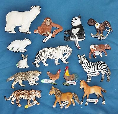 Schleich Toy figures 15  mint condition mixed animal lot