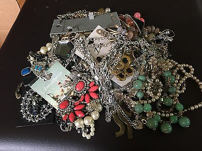Large Lot Of Designer Signed Jewelry Gap Banana Republic Limited And Much More