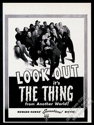 1951 The Thing From Another World movie release cast photo vintage print ad