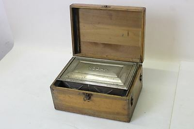 KODAK Vintage Early 1900s Developing Wooden Box & Metal Tank With Winder