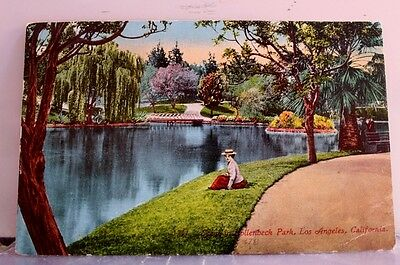 California CA Los Angeles Hollenbeck Park Postcard Old Vintage Card View Post PC