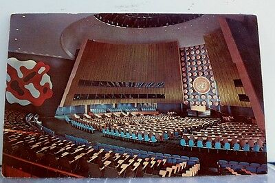 United Nations UN General Assembly Postcard Old Vintage Card View Standard Post