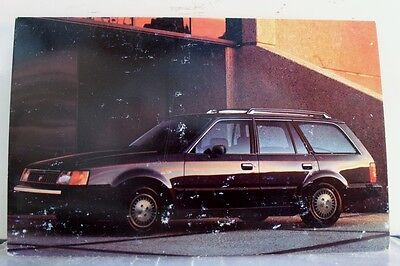 Car Automobile 1987 Mercury Lynx Wagon Postcard Old Vintage Card View Standard