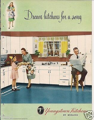 1948 YOUNGSTOWN KITCHENS Design Catalog Vintage Home Decor Retro Metal Cabinets