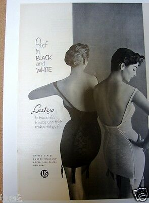 1954 Lastex CORSELETTES Rear Views o Wmn GIRDLES Vintage LINGERIE Photo Print Ad