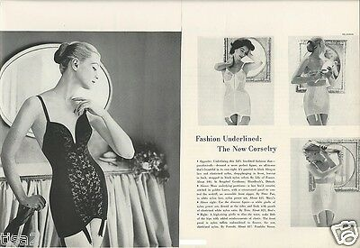 1957 Womens CORSETS Bras Lily Treo Formfit Vtg Fashion LINGERIE Photo Print Ad