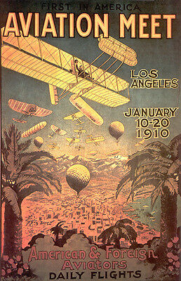 Vintage Air Show Poster  11 by 17 Glossy