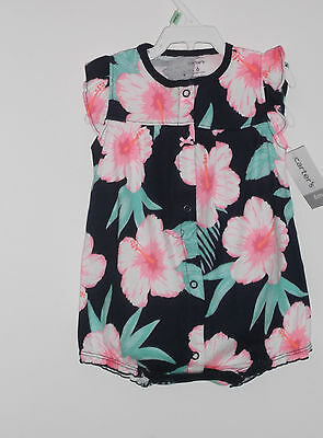 New WT Carter's Baby Girl  Spring/Summer Snap - Up Cotton Romper Size 3 Months