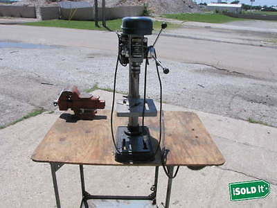 "RYOBI MODEL DP100 10"" 5 Speed DRILL PRESS HEAVY DUTY 1/2"" CHUCK 1/4HP 5.9A MOTOR"