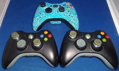 Lot of 3 Microsoft XBOX 360 Wireless Game Controllers WORKING SOME WEAR