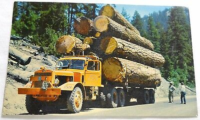 1960's Mack Logging Truck Real Photo Postcard