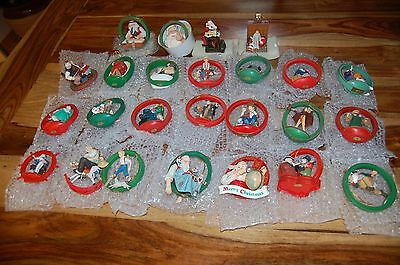 25 Norman Rockwell Christmas Ornaments Exclusive Danbury Collector's Club 1987