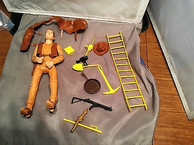 Great Louis Marx Johnny West Cowboy Figurine with Accessories - Fine Shape