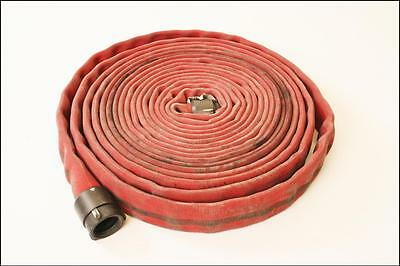 """50' Fire Hose w 1 3/4"""" Redhead NH Aluminum Coupling female nozzle firefighting"""
