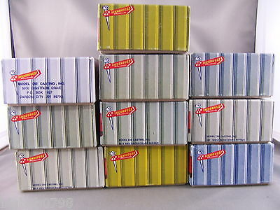 "Roundhouse - 10 Empty Blue 7-3/4"" Boxes"