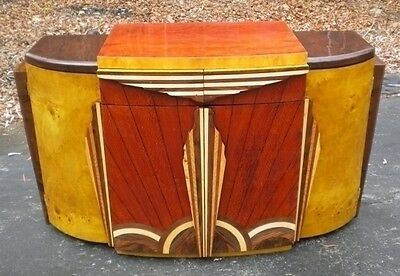 Unique Art Deco forms Credenza Sideboard buffet