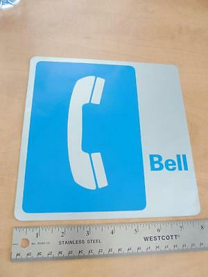 OLD 1970's-80's LARGE BELL CANADA ADVERTISING STICKER