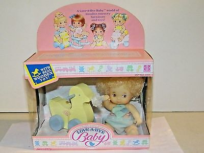 Vintage Hasbro 1987 Love A Bye Baby Doll With Wooden Duck Walker New In Box