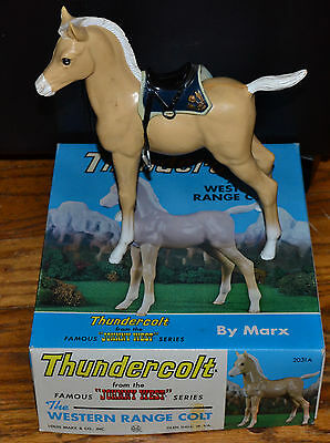 "Marx Johnny West Thundercolt the Western Range Colt 10"" Toy Horse in Box"