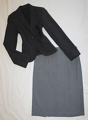 EXPRESS Size 6 Women's Skirt Suit Gray PERFECT!