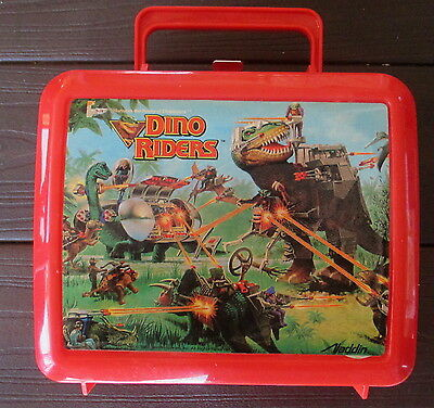1988 Dino Riders Aladdin Lunch Box & Thermos New With Original Tags And Papers