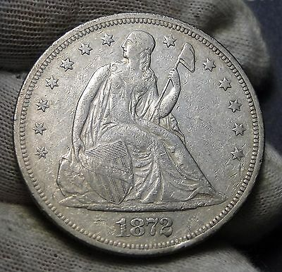 1872 $1 Liberty Seated Dollar - Nice Coin, Free Shipping (4648)