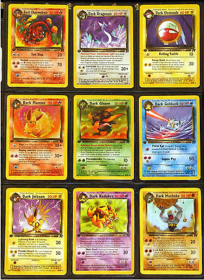 1st Ed Team Rocket Pokemon 24 Uncommon & 24 Commons, All Cards NM - Never Played