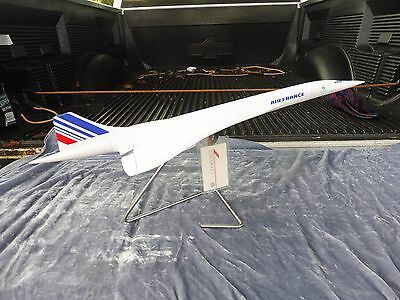 Model Air France Concorde Jet Aircraft With Original Luggage Tag