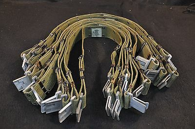 Lot of 10 USGI Pistol Web Belt Green Alice LC-2 With Grey Quick Release - Medium