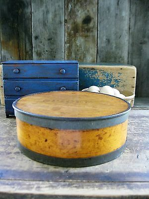 Early Antique Wood and Tin Spice Box ca. 1860