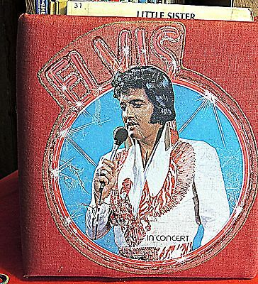 Elvis Presley red Padded binder with Elvis Sheet music